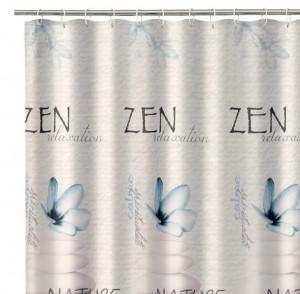 Perdea dus multicolora din poliester 180x200 cm Zen Relaxation Unimasa