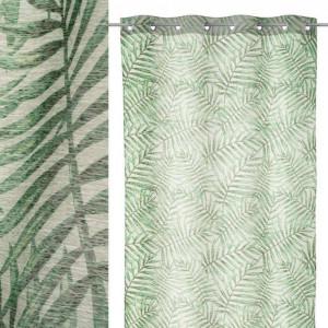 Perdea verde din poliester 140x260 cm LeavesThree Unimasa