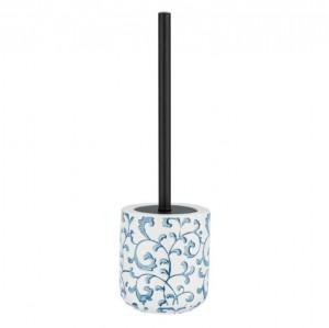 Perie alba/albastra din ceramica pentru toaleta Mirabello Wenko