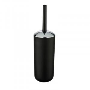 Perie neagra/argintie din elastomer termoplastic pentru toaleta Saburo Wenko