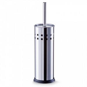 Perie toaleta argintie din inox Noble Design Zeller