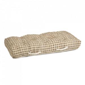 Perna de podea alba/maro din iuta 60x120 cm Adelma Kave Home