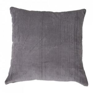 Perna decorativa gri din textil 45x45 cm Blanca House Nordic
