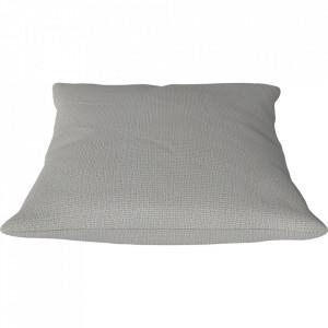 Perna decorativa patrata gri deschis din textil 50x50 cm Classic Ascot Bolia