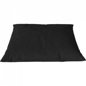 Perna decorativa patrata neagra din piele 60x60 cm Classic Austin Bolia