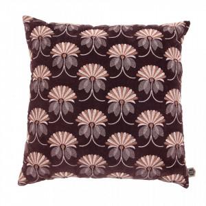 Perna decorativa patrata rosu burgundi din catifea 48x48 cm Vintage Be Pure Home
