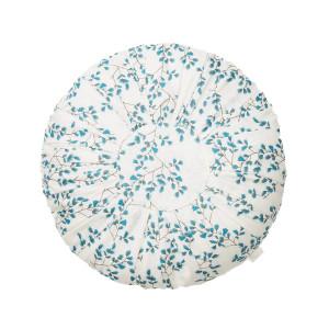 Perna decorativa rotunda multicolora din bumbac organic 40 cm Fiori Cam Cam