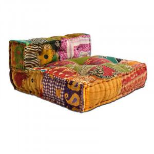 Perna modulara de podea patrata multicolora din bumbac 80x80 cm Yanis Giner y Colomer