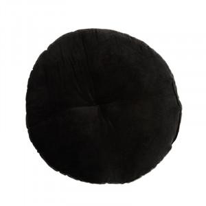 Perna sezut neagra din catifea si bumbac 46 cm Akash Madam Stoltz