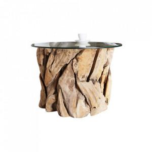 Picior pentru masuta maro din lemn Nature Lounge Invicta Interior