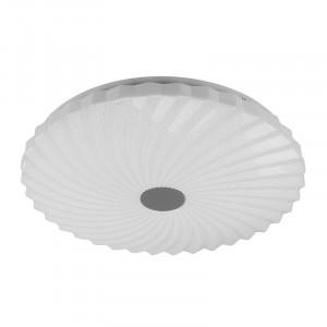 Plafoniera alba din plastic si otel cu LED Calipso Candellux
