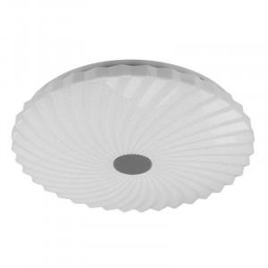 Plafoniera alba din plastic si otel cu LED Calipso Large Candellux