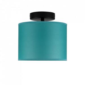 Plafoniera albastru turcoaz/neagra din hartie si otel Taiko Sotto Luce