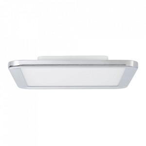Plafoniera argintie/alba din plastic si metal cu LED Neptun Brilliant
