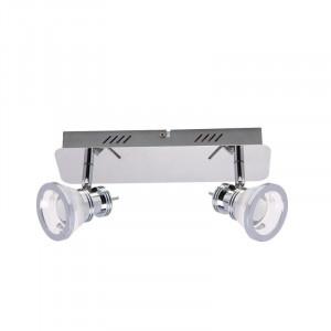 Plafoniera argintie din metal cu 2 LED-uri Moli Zuma Line