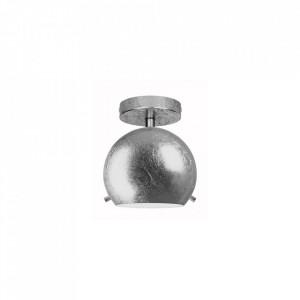 Plafoniera argintie din sticla si otel Myoo Silver Sotto Luce