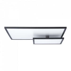 Plafoniera neagra/alba din plastic si metal cu LED Bility Brilliant