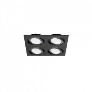 Plafoniera neagra din aluminiu cu 4 becuri Spot Boxes Zuma Line