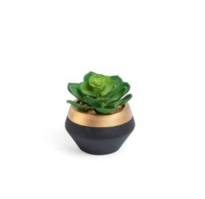 Planta artificiala cu ghiveci din ceramica 10,2  cm Lora La Forma