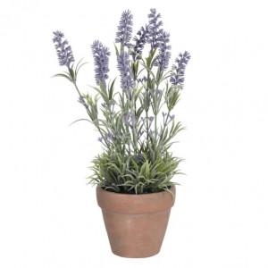 Planta artificiala cu ghiveci din polietilena si ceramica 36 cm Lavander La Forma