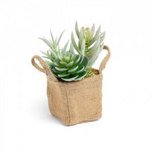 Planta artificiala cu saculet textil 19 cm Succulent Kave Home