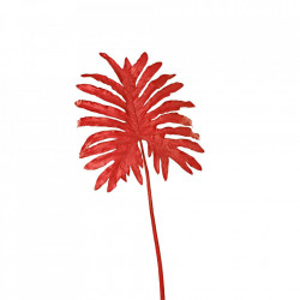 Planta artificiala rosie din fier si plastic 110 cm Selloum Pols Potten