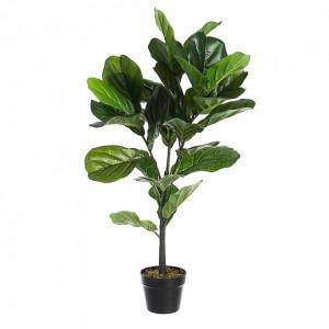 Planta artificiala verde din plastic si ciment 100 cm Ficus Lyrata Bizzotto