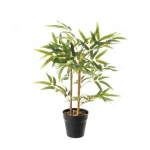 Planta artificiala verde/neagra din poliester si polietilena 63 cm Hardy Unimasa