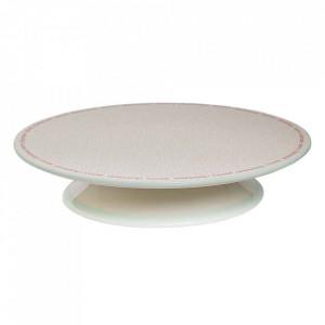 Platou alb din ceramica 33 cm Luciana Bloomingville