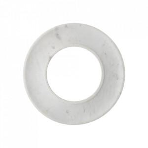 Platou alb din marmura 33 cm Tapas Creative Collection