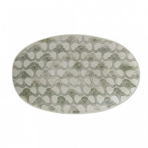 Platou alb/verde din ceramica 23x38,5 cm Viola Creative Collection