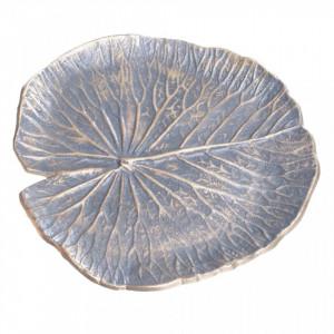 Platou decorativ gri/auriu din metal Vika Ixia