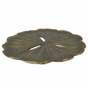 Platou decorativ maro bronz din fier si aluminiu 40 cm Fletcher HSM Collection
