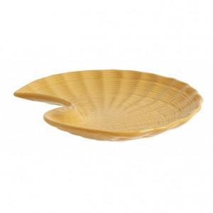 Platou galben mustar din ceramica 16x18 cm Gullfoss Nordal