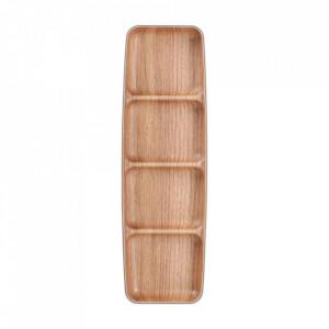 Platou maro din plastic si polistiren pentru aperitive 10x33 cm Buffet Aerts