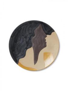 Platou multicolor din ceramica 37,5 cm Aya Multi Ferm Living
