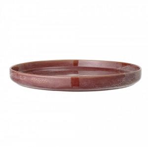Platou rosu din ceramica 32,5 cm Joelle Bloomingville