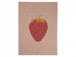 Pled colorat din bumbac 100x80 cm Strawberry Ferm Living