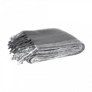 Pled gri carbune din fibre acrilice 130x170 cm Ferre Charcoal Woood