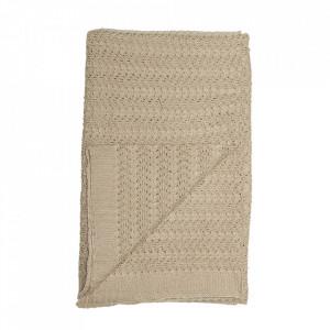 Pled maro din fibre acrilice 130x170 cm Nature Bloomingville