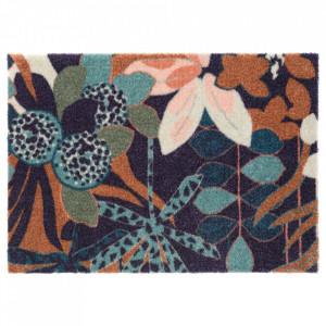 Pres dreptunghiular multicolor din poliamide pentru intrare 50x70 cm Viva Fleurette Elle Decor