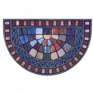 Pres multicolor oval pentru intrare din polipropilena 45x70 cm Adora The Home