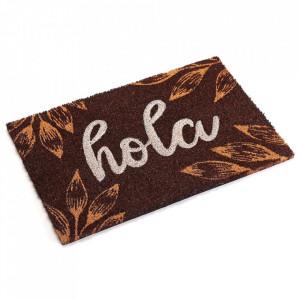 Pres pentru intrare maro din fibre de cocos 40x60 cm Hola Versa Home