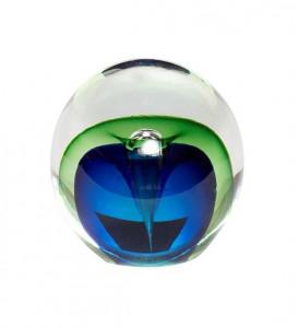 Prespapier albastru/verde din sticla Zlata Hubsch