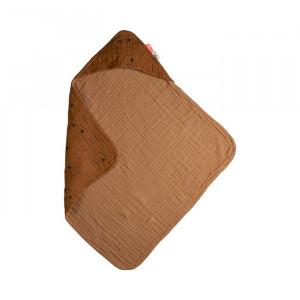Prosop galben mustar din bumbac 70x70 cm Sea Done by Deer