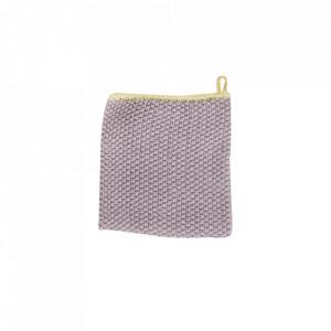 Prosop mov/galben din bumbac 30x30 cm Tea Towel Mini Purple Hubsch