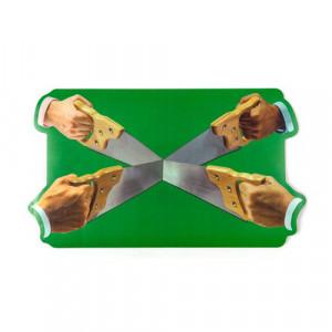 Protectie masa dreptunghiulara multicolora din polipropilena si pluta 30x53 cm Saws Toiletpaper Seletti