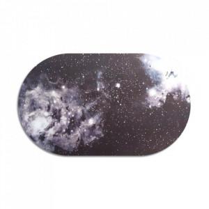Protectie masa ovala multicolora din polipropilena si pluta 30x50 cm Universe Cosmic Diner Seletti