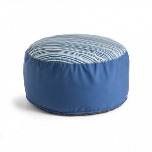 Puf albastru rotund 60 cm Bleu La Forma