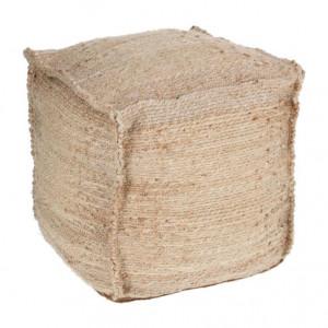 Puf patrat maro din iuta 45x45 cm Fadua Kave Home